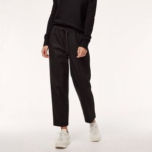 Babaton Jimmy Trousers Flannel Drawstring Black